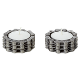 Bike Chain Tea Light Holders -- Pair of 2 by Resource Revival - ModernTribe - 1