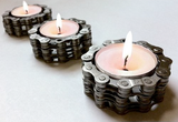 Bike Chain Tea Light Holders -- Pair of 2 by Resource Revival - ModernTribe - 2