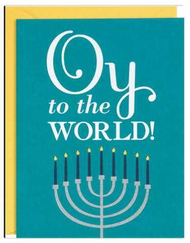 Oy to the World Greeting Cards - Boxed Set of 10 by Waste Not Paper - ModernTribe