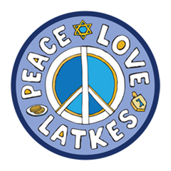 """Peace, Love, Latkes"" Car Magnet by Mad Mags - ModernTribe"