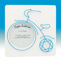 Blue Wire Tricycle Photo Frame by Copa Judaica - ModernTribe