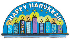 """Happy Hanukkah"" Car Magnet by Mad Mags - ModernTribe"