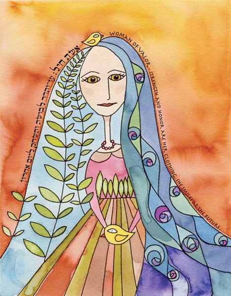 Susie Lubell Print 11x14 Woman of Valor Print by Susie Lubell