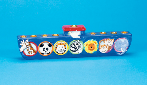Rite Lite Menorah Default Noah's Ark Hand-painted Menorah