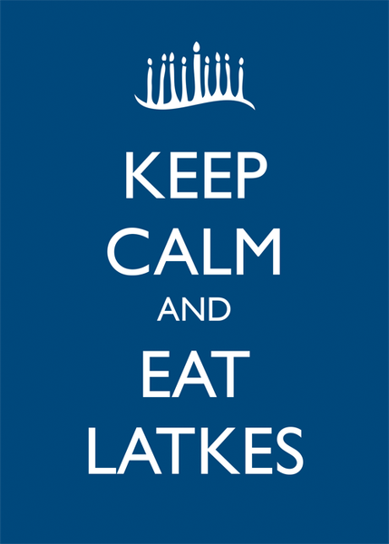 Other Poster Default Keep Calm and Eat Latkes Framed Poster