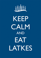 Keep Calm and Eat Latkes Framed Poster by Other - ModernTribe - 1