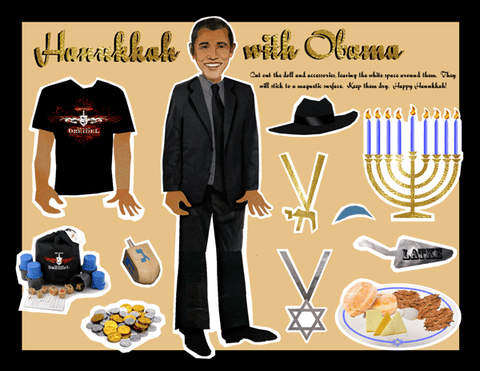 Obama Hanukkah - Magnetic Dress-Up Doll by Other - ModernTribe
