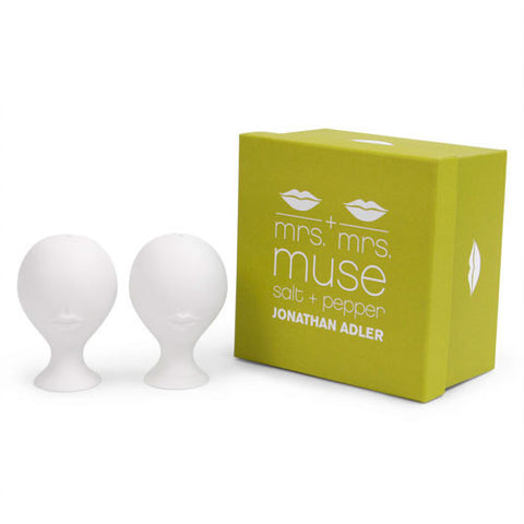 Mrs. & Mrs. Muse Salt & Pepper Shakers by Jonathan Adler by Jonathan Adler - ModernTribe