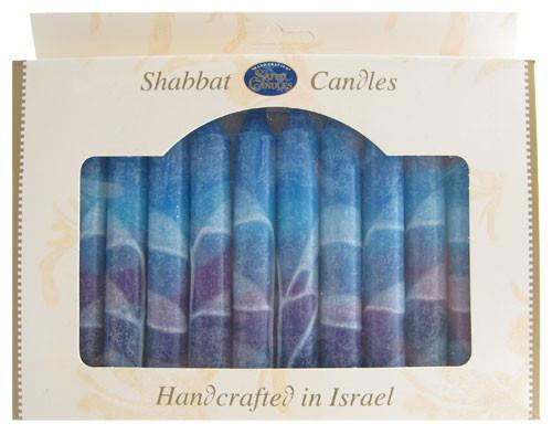 Safed Candles Default Fantasy Colors Shabbat Candles (12 Pack)