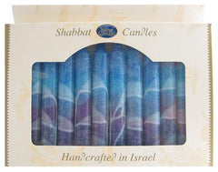 Fantasy Colors Shabbat Candles (12 Pack) by Safed - ModernTribe
