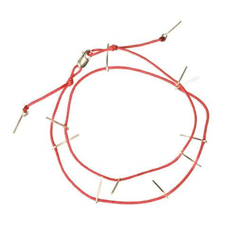 Kabbalah Spike Red String Bracelet by boe by by boe - ModernTribe