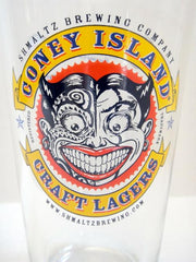 Coney Island Craft Lagers Shmaltz Brewing Company Pint Glass by Other - ModernTribe - 1