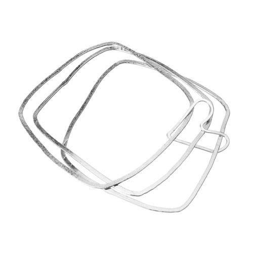 Aura Square Heart Bangle Bracelet Trio - ModernTribe