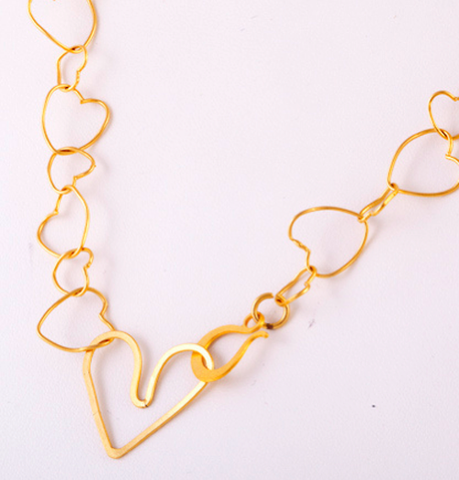 Ahava Heart Necklace by Other - ModernTribe