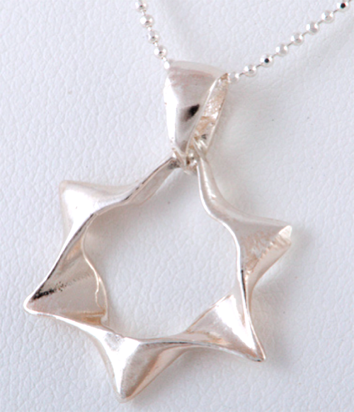 Other Necklaces Silver Open Star Necklace