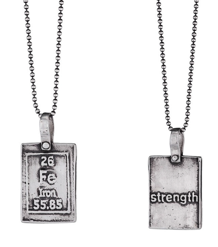 Iron-Strength | Periodic Table of Elements Necklaces by Marla Studio - ModernTribe