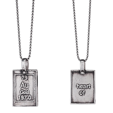 Heart of Gold | Periodic Table of Elements Necklaces - ModernTribe