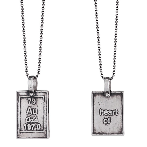 Heart of Gold | Periodic Table of Elements Necklaces by Marla Studio - ModernTribe - 1
