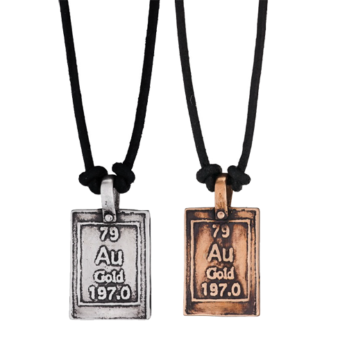 Heart of gold periodic table of elements necklaces moderntribe heart of gold periodic table of elements necklaces urtaz Image collections