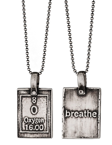 Oxygen-Breathe | Periodic Table of Elements Necklaces by Marla Studio - ModernTribe