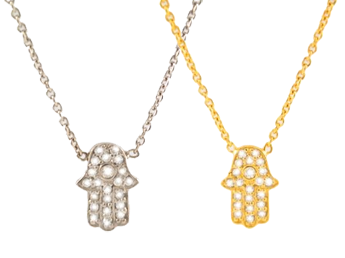 Sugar Bean Jewelry Necklaces Tiny Hamsa Necklace by Sugar Bean