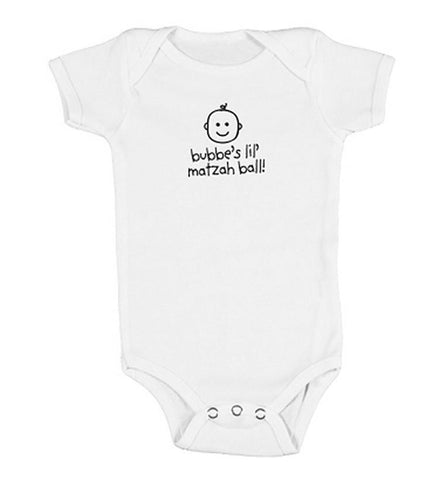 Bubbe's Lil' Matzah Ball Bodysuit by Hello Everywear! - ModernTribe