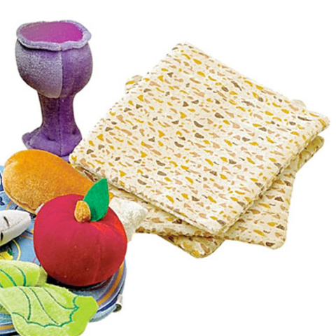 Plush Matzahs and Kiddush Cup by Rite Lite - ModernTribe