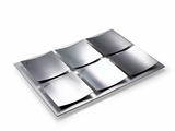 Dune Seder Plate - Stainless Steel by Laura Cowan - ModernTribe - 2