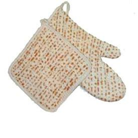 Davida Oven Mitt / Pot Holder Default Matzah Pot Holder + Oven Mitt Set