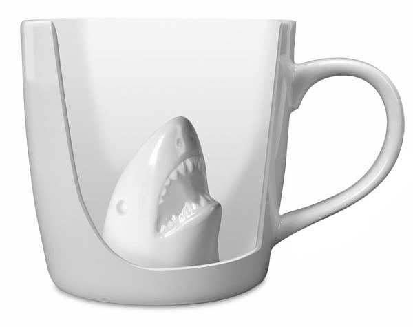Accoutrements Mug Default Shark Attack Porcelain Mug