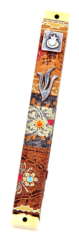 Jeweled Arabesque Mezuzah by Copa Judaica - ModernTribe
