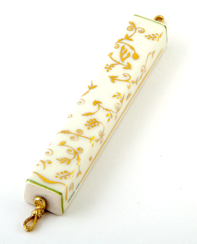 Golden Flower Mezuzah by Azoulay - ModernTribe