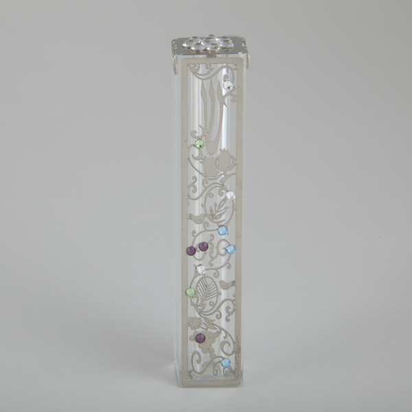 Anat Mayer Mezuzah Default Crystal Filigree Mezuzah by Anat Mayer