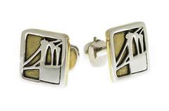 Brooklyn Bridge Cufflinks by Cynthia Gale GeoArt - ModernTribe