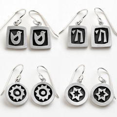 Sterling Silver Vignette Earrings by Emily Rosenfeld - ModernTribe - 1