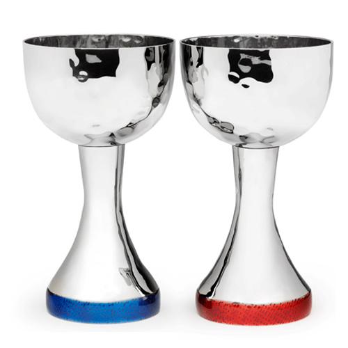 Mary Jurek Kiddush Cup Symphony Kiddush Cup by Mary Jurek | Red or Blue