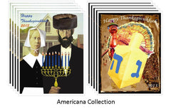 Thanksgivukkah Note Cards - Americana Collection by ModernTribe - ModernTribe