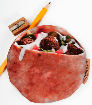 Falafel Wallet Mediterranean Food Pocket/Pouch by Barbara Shaw - ModernTribe