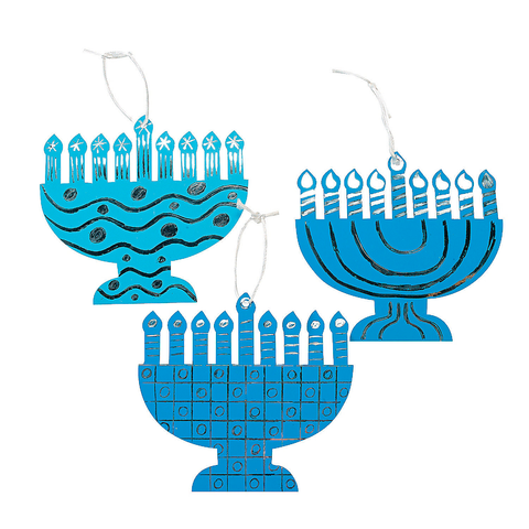 Magic Scratch Foil Menorahs - Ages 3 to 9 by Fun Express - ModernTribe - 1