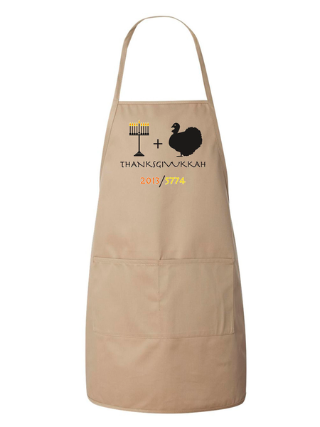 ModernTribe Aprons Brown Thanksgivukkah Holiday Apron