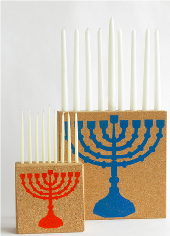 Cork Menorah by Daniel Michalik by DFMD - ModernTribe - 1