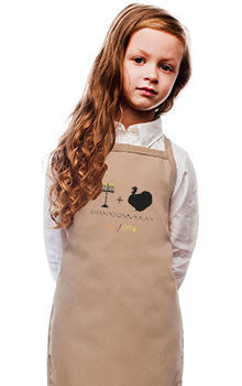 ModernTribe Aprons Brown Thanksgivukkah Holiday Apron - For Child