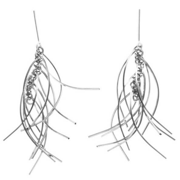 by boe Earrings Silver Horsetail Earrings by Boe