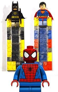 LEGO Mezuzahs: DC Comics - Superman, Batman, Spiderman by Jewdads - ModernTribe