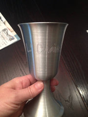 L'Chaim Aluminum Kiddush Cup by Other - ModernTribe