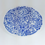Pesach Plate in Blue by Barbara Shaw by Barbara Shaw - ModernTribe - 2