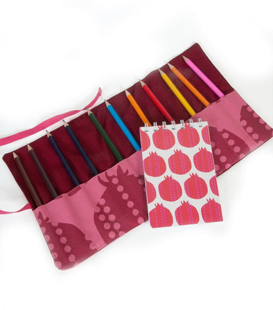 Pomegranate Pencil Roll