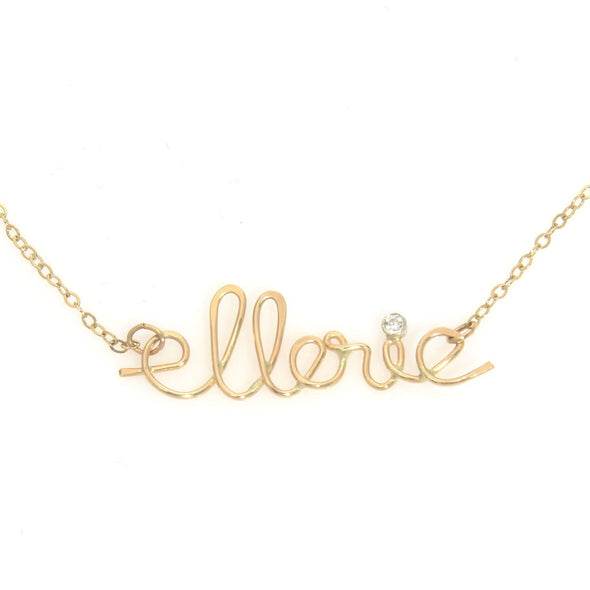 Personalized Name Necklace in Cursive by Throwing Stars - ModernTribe