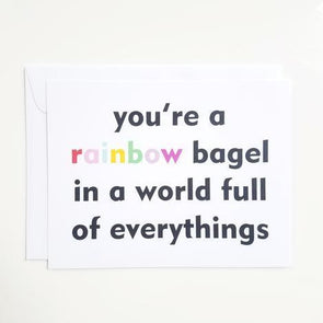 Rainbow Bagel Notecard - Set of 8
