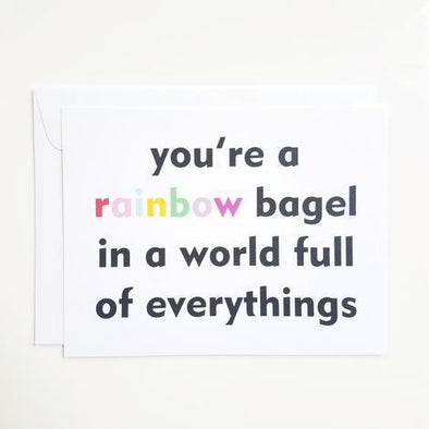 Tchotch Shop Card Rainbow Bagel Notecard - Set of 8